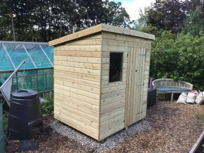 12mm Tanalised pent garden shed with windows