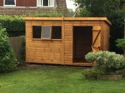 12mm Pent Garden Shed from shaws for sheds with opening window