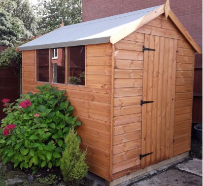 12mm 8 X 6 Bramley Apex from Aardvark joinery sheds in Barnsley