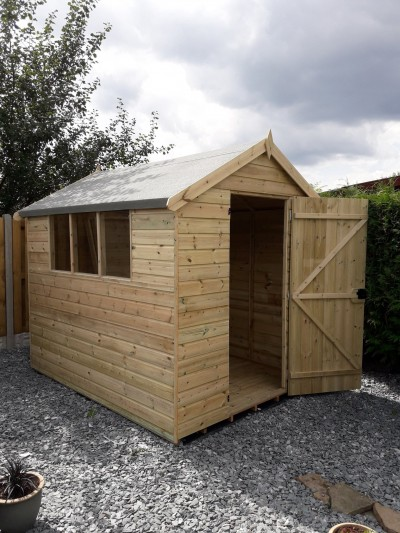 Tanalised 12mm garden shed