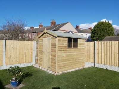 Budget Apex Garden Shed tanalised