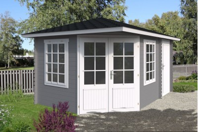 combi summer room office with side shed