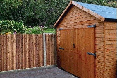 12mm Double doors with personnel door garage