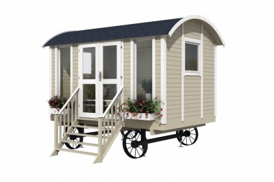Shepherds hut from Aardvark joinery with wheels