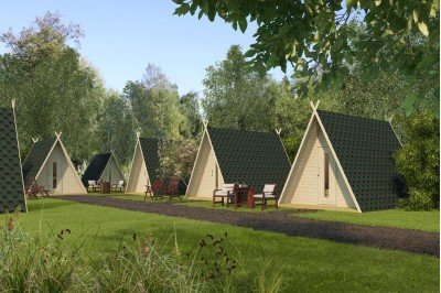 traditional glamping pods