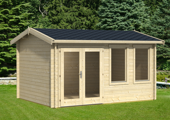 allora Q log cabin summer room West Yorkshire Local