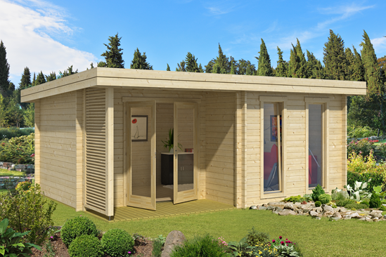 44mm log cabins perfect for summer rooms, home offices, garden bars and more