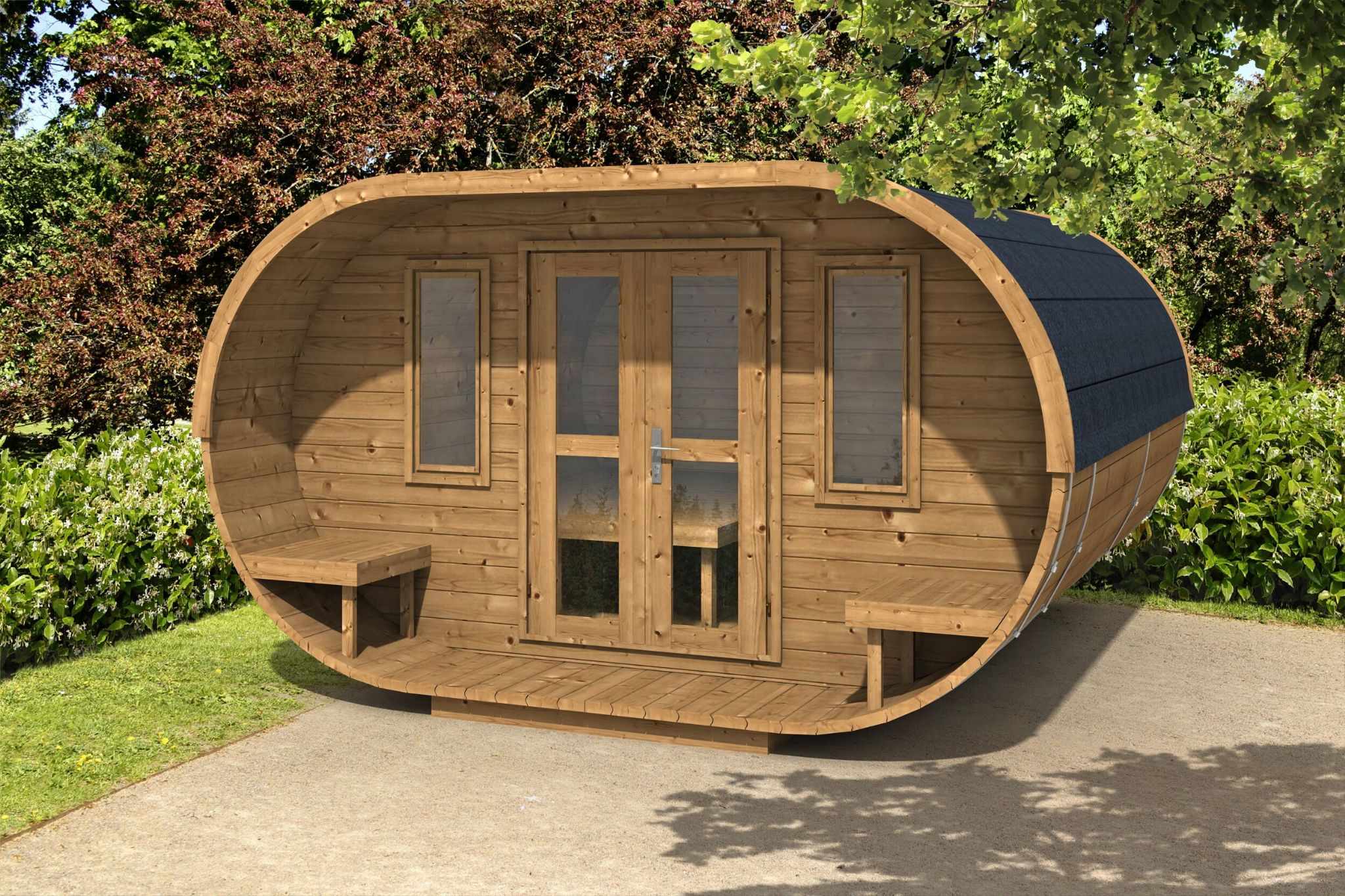 Large camping oval Aardvark joinery